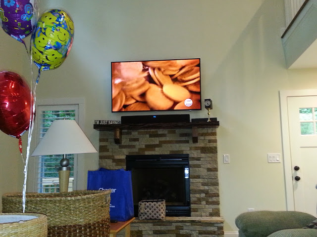50in Panasonic Plasma TV and solid Walnut Argos speakers