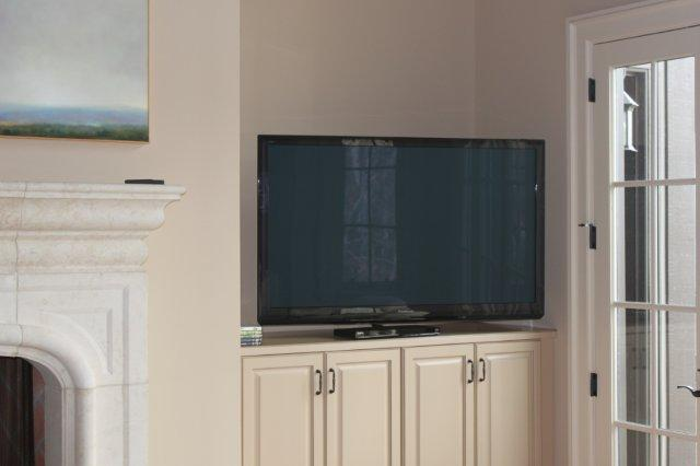 55in Panasonic Plasma TV in customers Master Bedroom